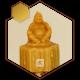 شمع مجسمه بودا