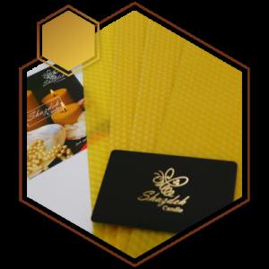 ورقه موم طبیعی زرد رنگ در بسته های یک کیلویی